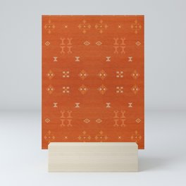 N248 - Lovely Brown Camel Berber Oriental Bohemian Moroccan Fabric Style Mini Art Print