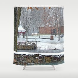 Duck Pond at Ste. Marie Du Lac Shower Curtain