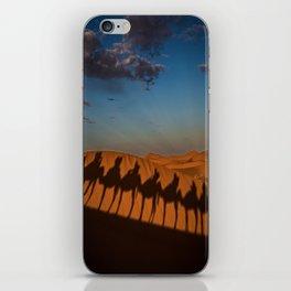 caravan camel desert morocco iPhone Skin