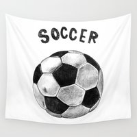 soccer Wall Tapestries featuring Soccer by Matthias Leutwyler