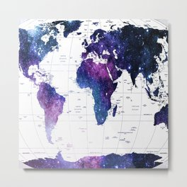 ALLOVER THE WORLD-Galaxy map Metal Print