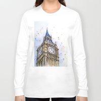 ben giles Long Sleeve T-shirts featuring big ben by Beth Jorgensen