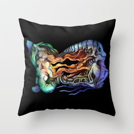 Anima Lupinus Throw Pillow