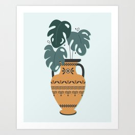Grecian Planter Art Print