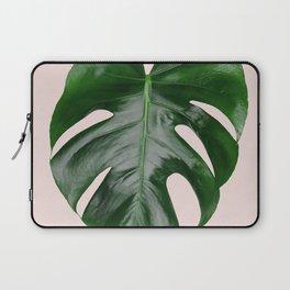 Pink Monstera Laptop Sleeve