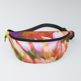 Many Colorful Tulips Fanny Pack