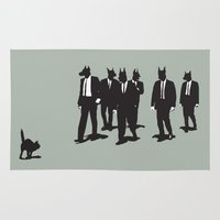 reservoir dogs Area & Throw Rugs featuring Reservoir Dogs by Clayton Dixon