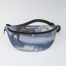 Horses and Moon Fanny Pack