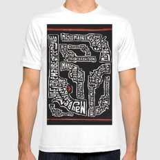 Maybe MEDIUM White Mens Fitted Tee