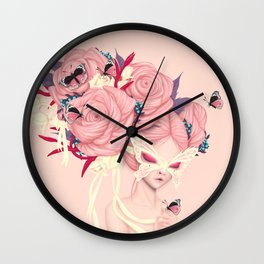 fairy rose Wall Clock