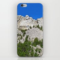 rushmore iPhone & iPod Skins featuring Mount Rushmore by astultz23