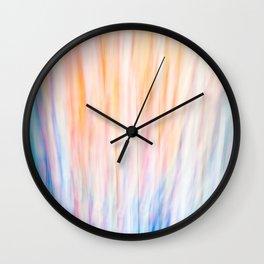Rainbow Abstract Wall Clock
