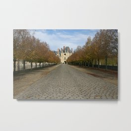 Fontainebleu Chateau Metal Print