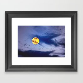 On a left along the moon and further to the east. Framed Art Print
