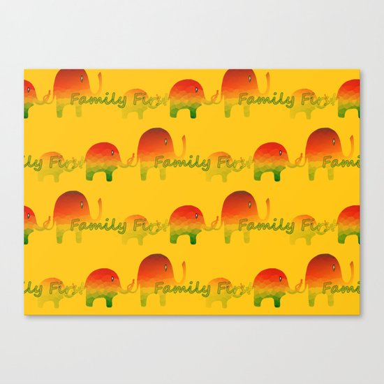 Family First Canvas Print