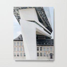 Antwerp Port House | Zaha Hadid Architects | Belgium Metal Print