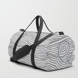 Waves in Charcoal Duffle Bag