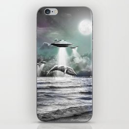 Whaling UFO iPhone Skin