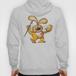 Easter Bunny Painting an Egg Hoody