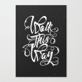 Hardrock musician quote Canvas Print