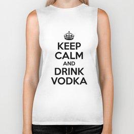 Keep Calm and Drink Vodka Biker Tank