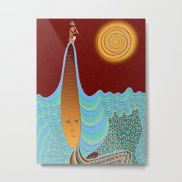 The Young Man And The Sea Metal Print