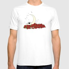 wake up & bloom Mens Fitted Tee White MEDIUM