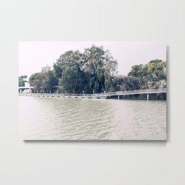 Calm river side | modern landscape photography Metal Print