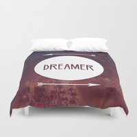 dreamer Duvet Covers featuring Dreamer by Urban Exclaim Co.
