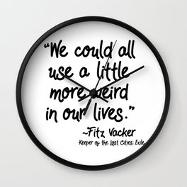 Fan-favorite Fitz Quote Wall Clock