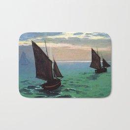 Fishing Boats at Sea - Claude Monet 1868 Bath Mat