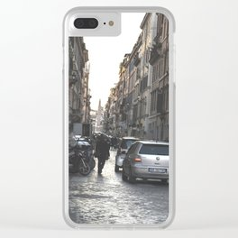 the roman street Clear iPhone Case