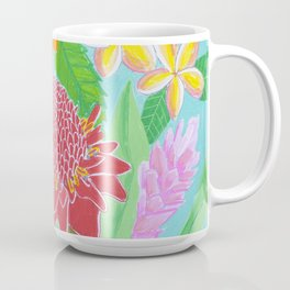 Rainbow Hawaiian flowers Coffee Mug