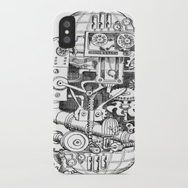 DINNER TIME FOR THE ROBOT iPhone Case