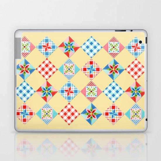 Country Days Patchwork Design Laptop & iPad Skin