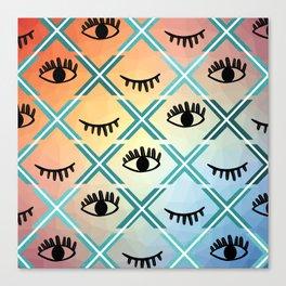 Original Colorful Eyes Design Canvas Print