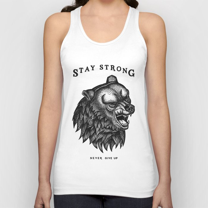 d858b95c83d929 STAY STRONG NEVER GIVE UP Unisex Tank Top by freakland