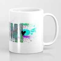 miami Mugs featuring Miami by Tonya Doughty