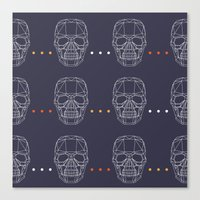 skulls Canvas Prints featuring Skulls by Hipster