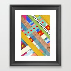 Geometric Architecture Striped Framed Art Print