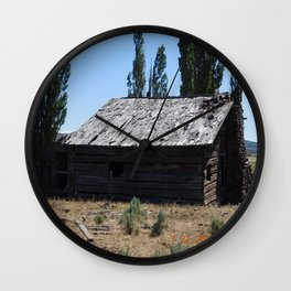 An old time cabin Wall Clock