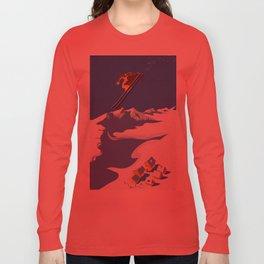 Retro Sky Skier Long Sleeve T-shirt