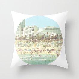 Santa Monica Summer Throw Pillow