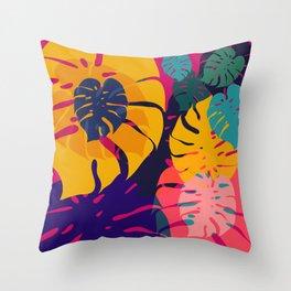 Aloha Floral Pop Art Pattern Throw Pillow