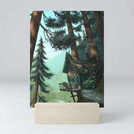 River Cabin Mini Art Print
