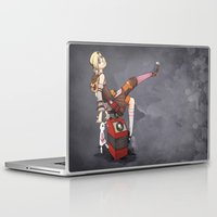 tina Laptop & iPad Skins featuring Lady Tina of Blowupyourfaceheim by Souzou Inc