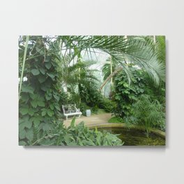 Glasshouse - Lednice Metal Print