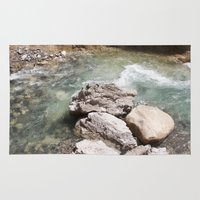 allyson johnson Area & Throw Rugs featuring Johnson Canyon rocks by RMK Photography