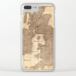 Map Of Great Britain 1631 Clear iPhone Case