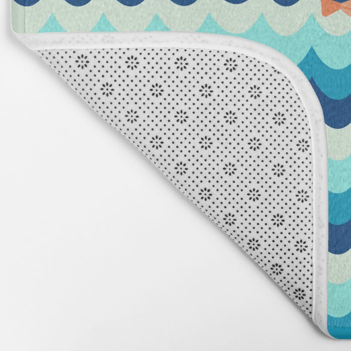 Fishes in the sea Bath Mat
